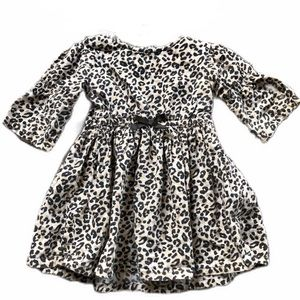 Wonderkids cheetah print dress w/removable vest 2T